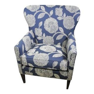 Bassett Blue Accent Chair For Sale