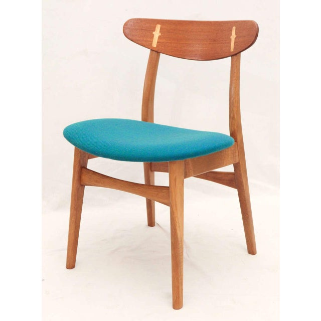 1950s Set of 8 Hans Wegner CH-30 Dining Chairs For Sale - Image 5 of 10