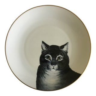 Vintage Favorite Cat Philippe Deshoulieres Limoges Porcelain Plate For Sale