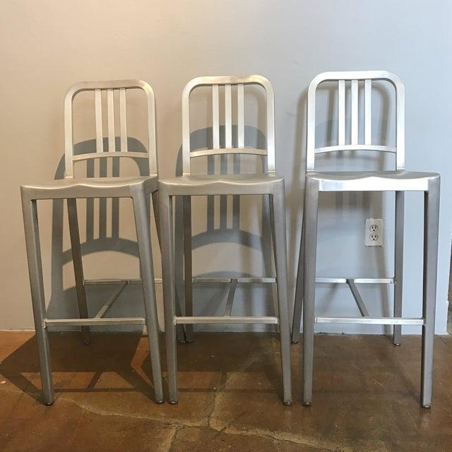 Emeco Aluminum Bar Stools- Set of 3 - Image 2 of 6