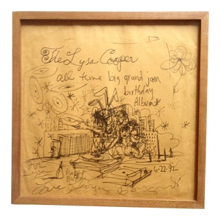 George Condo Framed Original Drawing