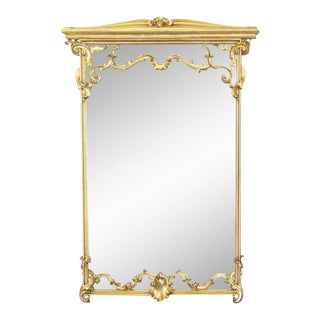 Italian Style Gilt Carved Framed Mirror For Sale