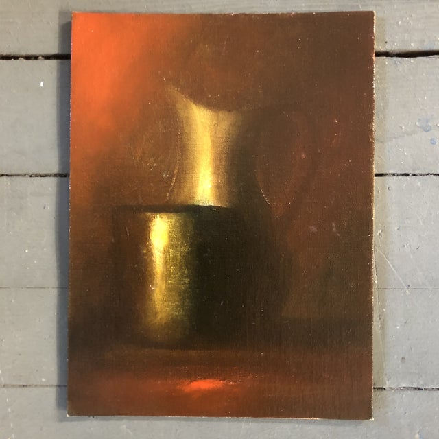 3 Original Still Life Oil Paintings on canvas board 9 x 12 each 1is Signed on reverse Wall size approx as shown 21 wide by...