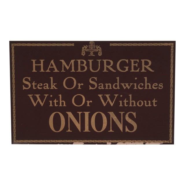 Hamburger Restaurant Sign - Image 1 of 3