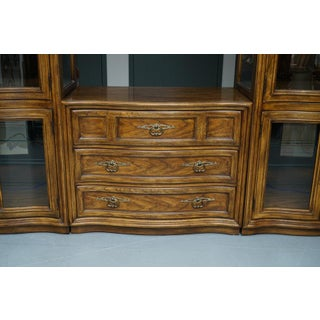 Illuminated Neoclassical Wall Unit Storage Cabinet by Drexel-Heritage Preview