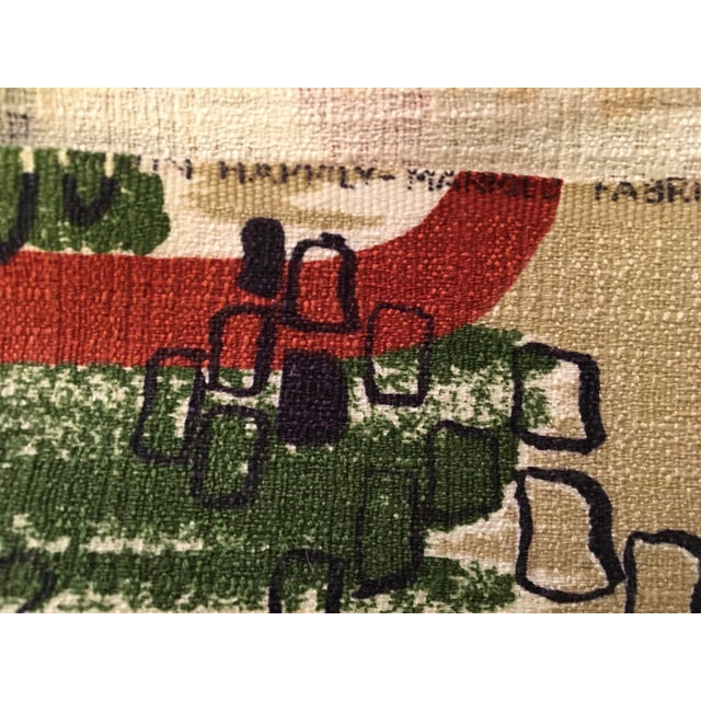 Vintage Mid Century Modern Yardage Fabric- 11 Yds For Sale - Image 4 of 6