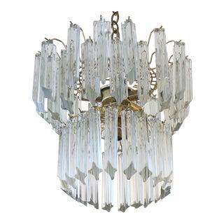 Mid-Century Venini Glass Chandelier