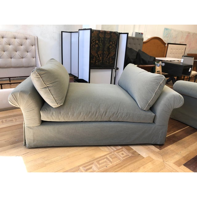 Design Plus Gallery presents a custom lounge sofa by A.Rudin. A rolled arm deep luxe depth for comfort. Upholstered in...