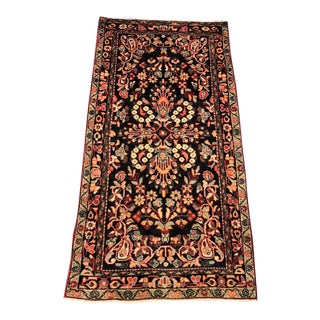 "Vintage Persian Lilihan Rug - 3'6""x7'3"" For Sale"
