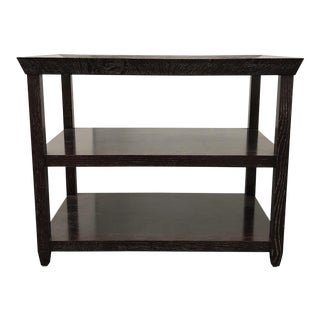 Custom Black Oak Side Table