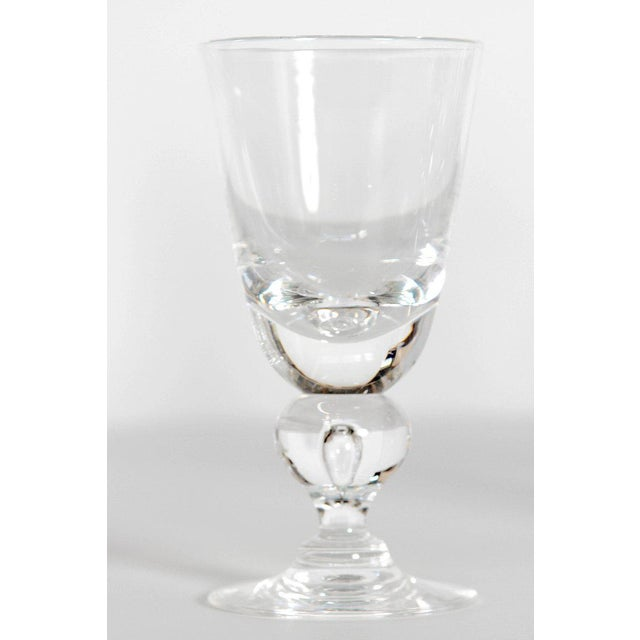 Glass Set of Fifteen (15) Steuben Baluster Water Goblets For Sale - Image 7 of 12