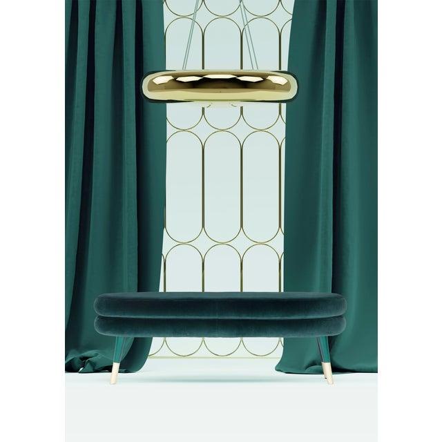 Marshmallow double stool, Royal Stranger Dimensions: 45 x 114 x 50 cm Materials: Velvet upholstery, brass Available in:...
