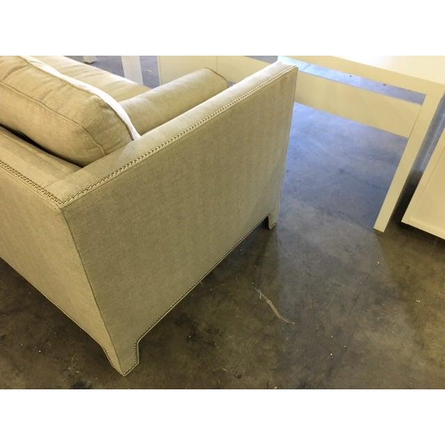 Contemporary Linen Sofa - Image 6 of 9