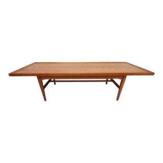 1950s Danish Modern Drexel Declaration Rectangle Coffee Table For Sale