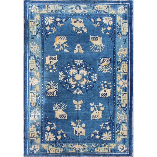Textile Antique Chinese Peking Rug-5' X 7'9 For Sale - Image 7 of 7