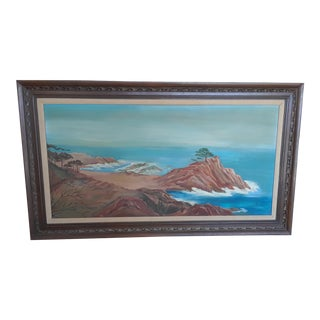 """1968 """"Big Ocean"""" Oil Painting on Canvas For Sale"""