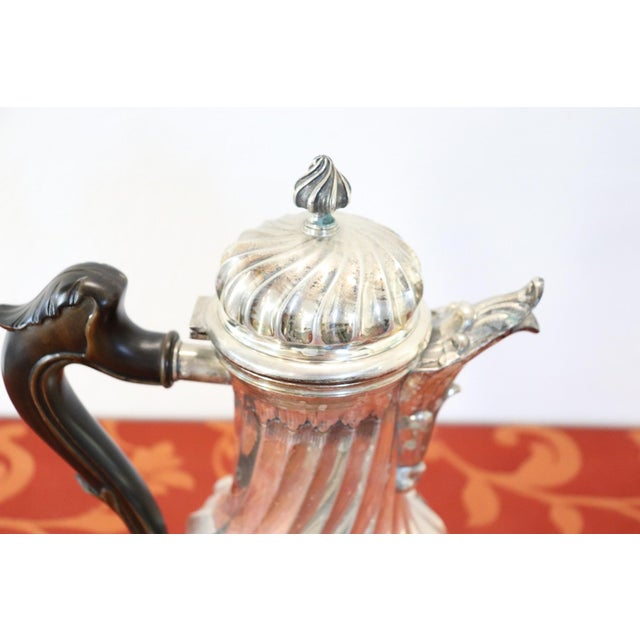 1970s 20th Century Italian Baroque Style Silver 800 Coffee Pot For Sale - Image 5 of 13