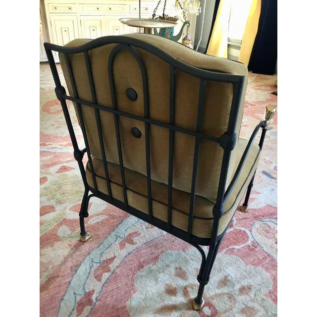 Diego Giacometti Vintage Diego Giacometti Style Wrought Iron Chair For Sale - Image 4 of 9