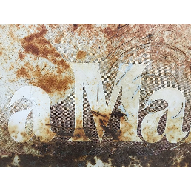 "Industrial ""Ask a Marine"" Large Tin Sign For Sale - Image 3 of 7"