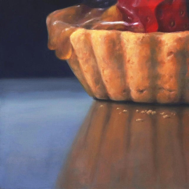 """""""Strawberry Tartle"""" Framed Original Photorealistic Oil Painting by Stuart Dunkel For Sale - Image 4 of 10"""