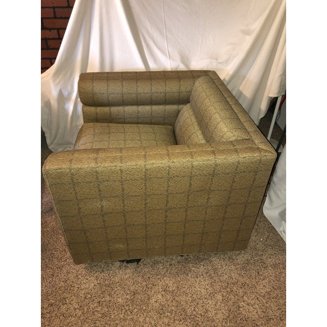 1950s Edward Wormley Dunbar Cube Lounge Chair For Sale - Image 5 of 9