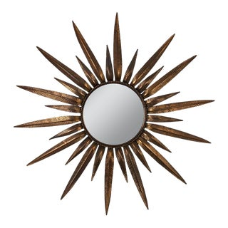 Copper-Plated Sunburst Mirror