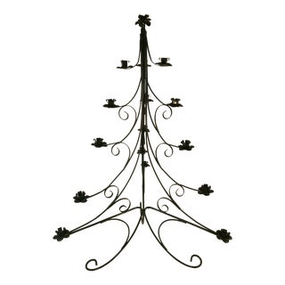 Sweedish Wrought Iron Table Top Christmas Candle Holder Tree