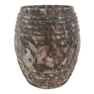 19th Century French Marble Tobacco Pot For Sale