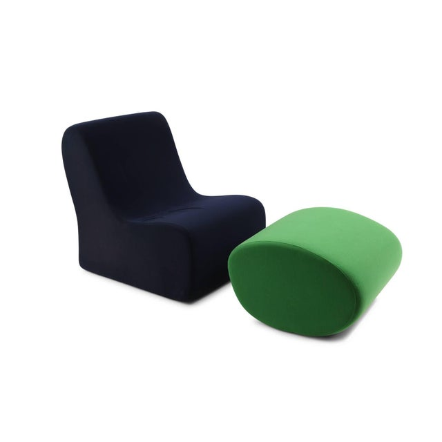 Rare Malitte sofa by Roberto Matta for Knoll circa late 1960s. This example is all original in its navy and vibrant green....
