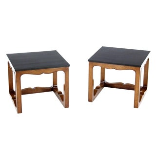 Pair of Mike Talor for Baker Square Cube Shape Side End Tables For Sale