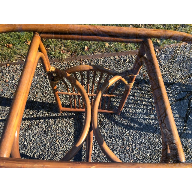 Boho Chic Rattan and Bentwood Dining Set for Two - 3 Pieces For Sale - Image 4 of 13