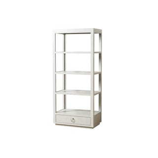Contemporary Carmel Tweed Etagere For Sale
