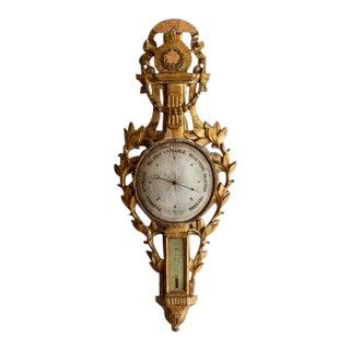 1790 Antique Giltwood Barometer For Sale