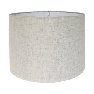 """12"""" Natural Linen Drum Lamp Shade For Sale"""