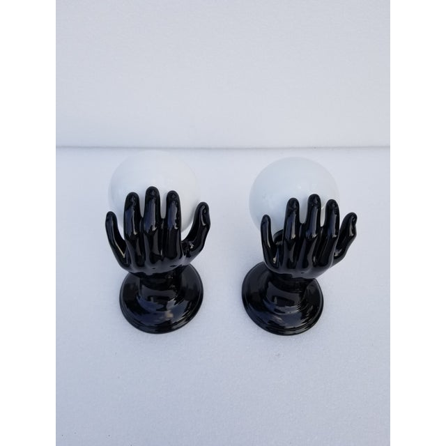 """1970s Ceramic Hand Sconces by """"Le Trefle"""" - 2 Pairs Available For Sale - Image 5 of 13"""