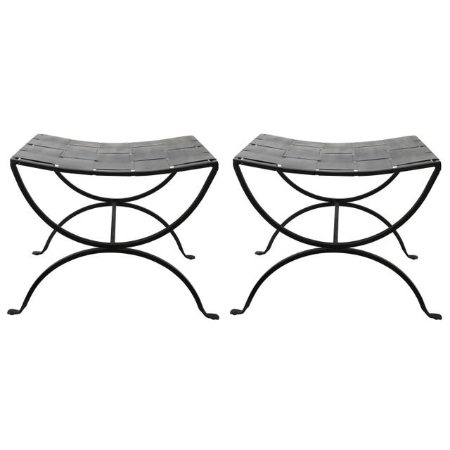 Gray Mid-Century Modern Iron Benches - a Pair For Sale - Image 8 of 8
