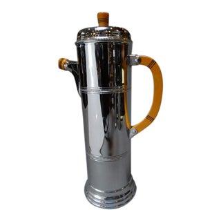 1940s Deco Krome Kraft Farber Bros. Cocktail Shaker For Sale