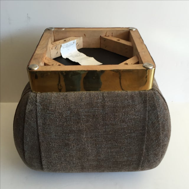 1970 Marge Carson Pouf with New Fabric - Image 4 of 8