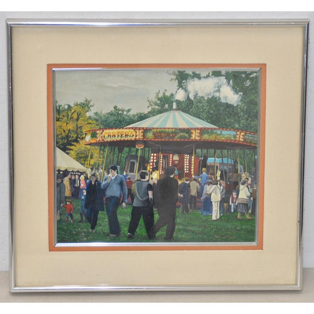 Carter's Steam Engine Merry Go-Round Painting by B. Smith - Image 5 of 5
