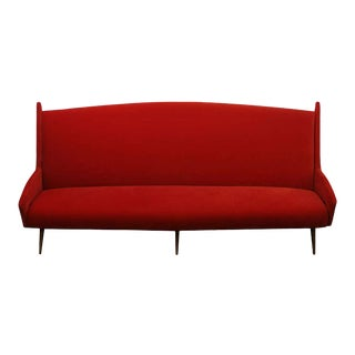 Over Scaled Mid-Century Italian Sofa For Sale