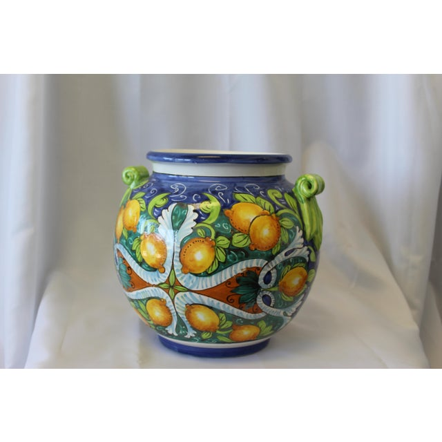 Vintage Italian Ceramic Cache Pot For Sale - Image 4 of 6