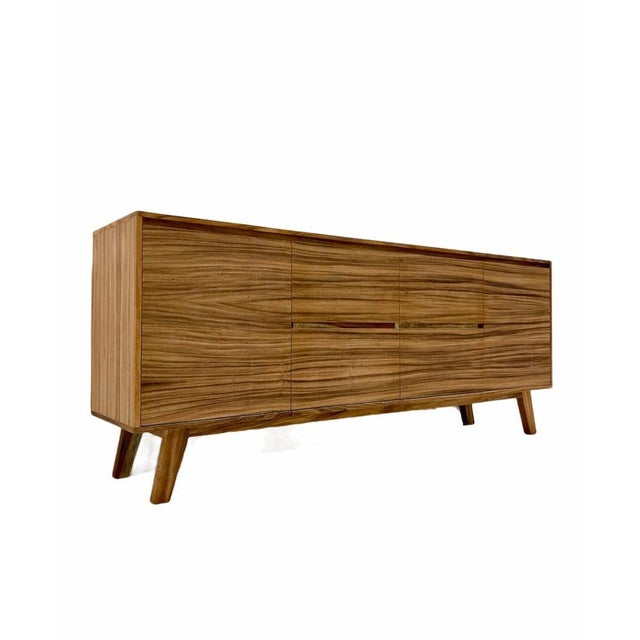 Mid Century Modern Solid Wood Credenza For Sale In Seattle - Image 6 of 6
