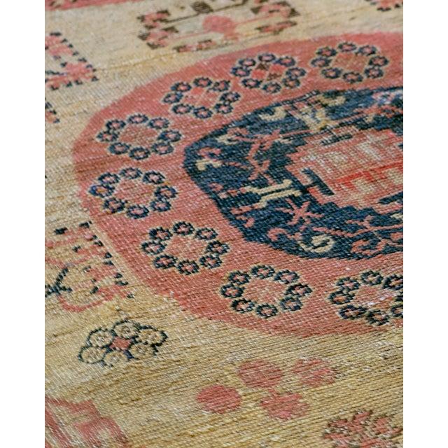 Persian Vintage Handwoven Wool Khotan Rug For Sale - Image 3 of 5