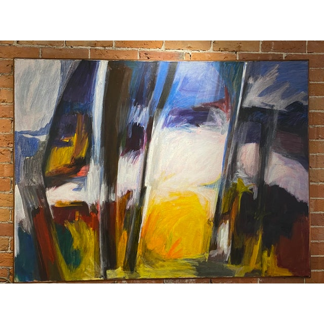 Mid 20th Century Abstract Oil Painting For Sale - Image 11 of 11