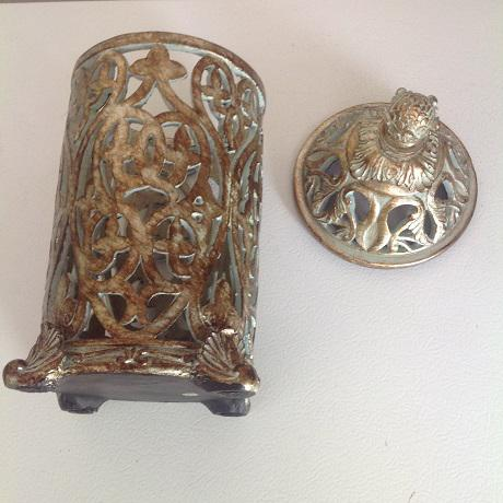 Moroccan Ceramic Candle Holder - Image 4 of 5