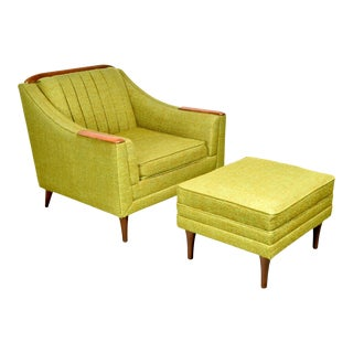 Mid Century Lounge Chair and Ottoman by Kroehler For Sale
