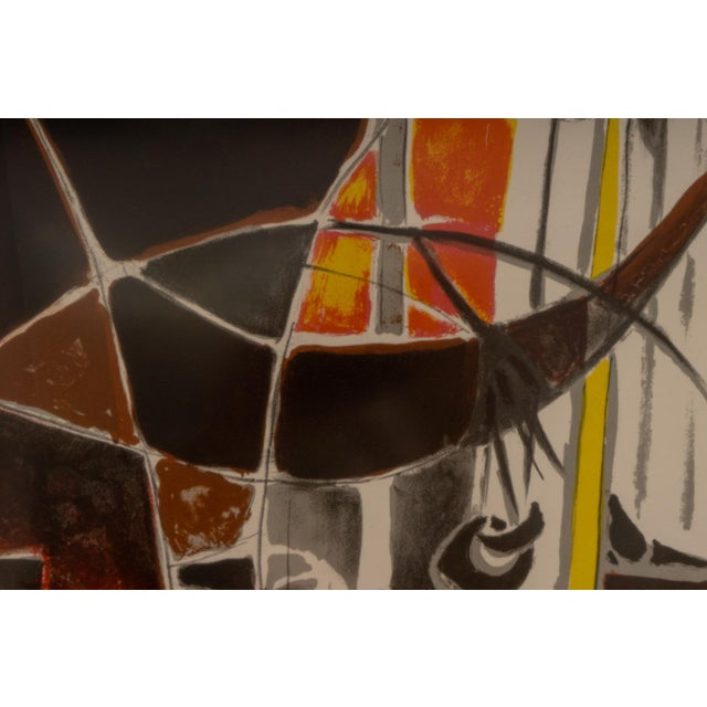 Glass 1940s Lithograph After Edouard Pignon Ltd Ed For Sale - Image 7 of 10