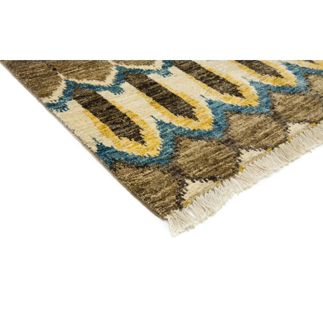 "New Ikat Hand Knotted Area Rug - 3'10"" x 6' - Image 2 of 3"