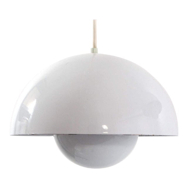Last Call Vintage Verner Panton White Flower Pot Pendant Light - Image 1 of 2