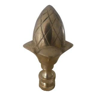 Heavy Brass Acorn Finial
